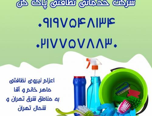 شرکت خدماتی نظافتی پاک کن