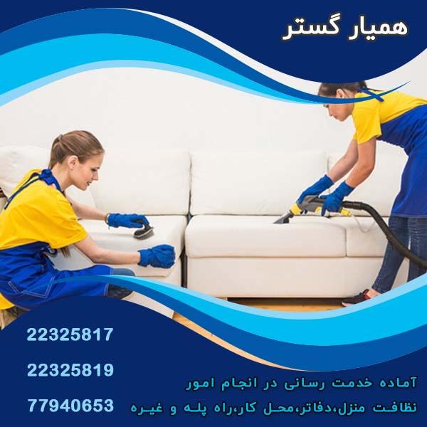 نظافت آپارتمان در سرسبز تهران